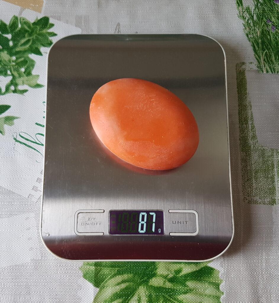 Ovale Seifenform Gewicht