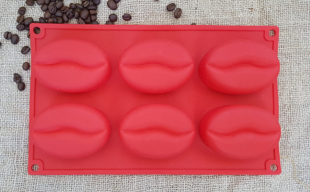 Silikonform Kaffeebohnen